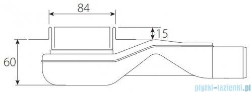 Wiper New Premium Tivano Odpływ liniowy z kołnierzem 80 cm mat rysunek techniczny