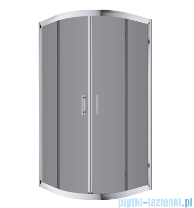 Omnires Health kabina 2-skrzydłowa 80x80x185cm szkło grafit JK2808LC2Grafit