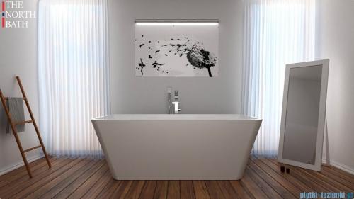 The North Bath Norny wanna wolnostojąca 170x80cm + Syfon Klik-klak wizualizacja wanna stojąca