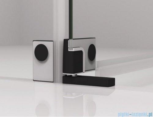 SanSwiss Cadura Black Line drzwi wahadłowe 110cm jednoczęściowe prawe z polem stałym czarny mat CA31CD1100607