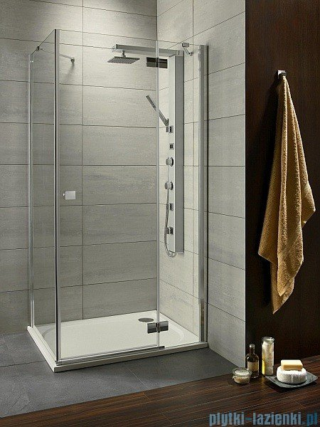 Radaway Almatea Kdj Gold kabina prysznicowa 90x75 prawa szkło grafitowe