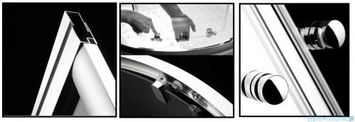 Radaway Premium A Kabina półokrągła 80x80x190 szkło przejrzyste 30413-01-01