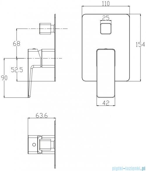 Omnires Parma system wannowy podtynkowy chrom SYSPMW01CR