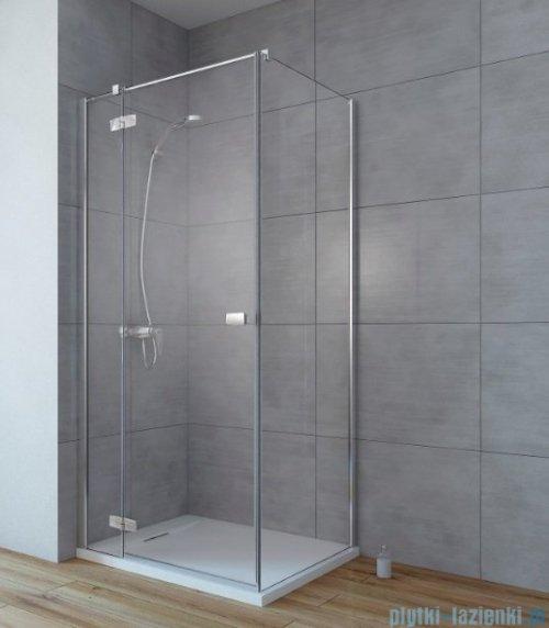 Radaway Fuenta New Kdj kabina 100x100cm lewa szkło przejrzyste + brodzik Doros C + syfon