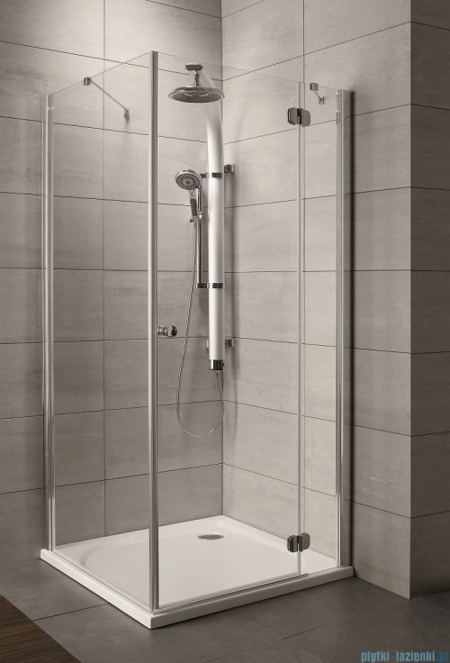 Radaway Torrenta Kdj Kabina prysznicowa 100x100 prawa szkło przejrzyste + brodzik Delos C + syfon