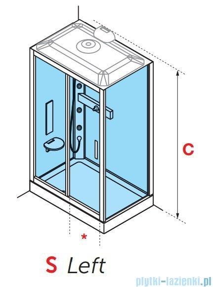 Novellini Glax 3 standard kabina prysznicowa 120x90 lewa srebrny GL32P299SM-1B