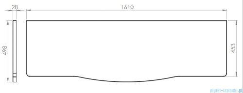 Elita Rolly blat szafkowy 161x50cm dąb classic 167803