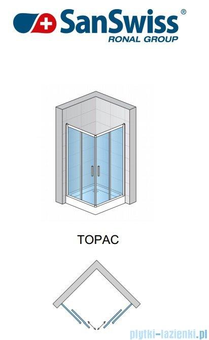 SanSwiss Top-Line TOPAC Wejście narożne 60-90cm profil połysk Prawe TOPDSM15007