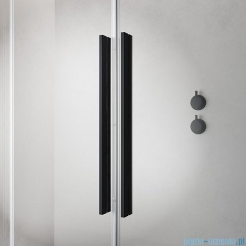Radaway Furo Black PND II parawan nawannowy 120cm prawy szkło przejrzyste 10109638-54-01R/10112594-01-01