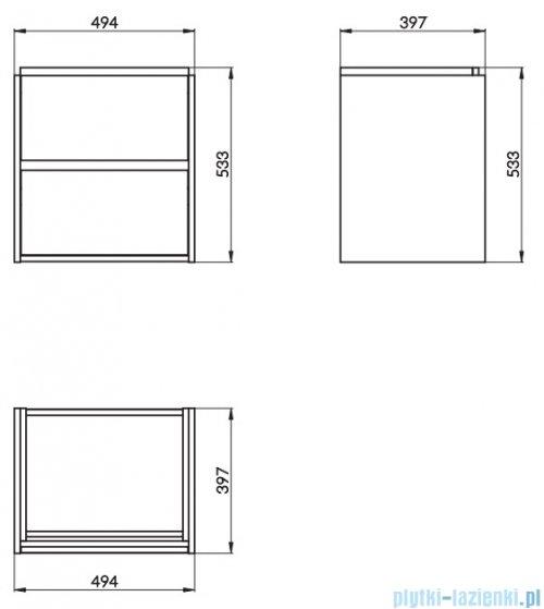 Cersanit Crea szafka wisząca 50x40x53 cm szary S924-015
