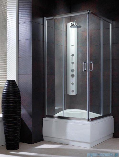 Radaway Premium Plus C Kabina kwadratowa 80x80x170 szkło brązowe