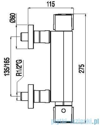 Tres Lex-Tres Bateria termostatyczna natryskowa z akcesoriami 1.81.164.9