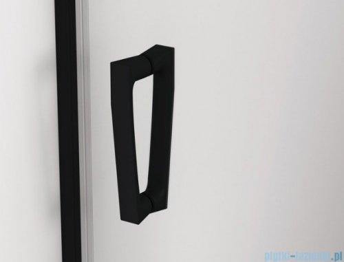 SanSwiss Cadura Black Line drzwi wahadłowe 100cm jednoczęściowe lewe z profilem przyściennym czarny mat CA1CG1000607