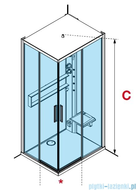 Novellini Glax 2 2.0 kabina z hydromasażem hydro plus 80x80 total biała G22A80T1L-1UU