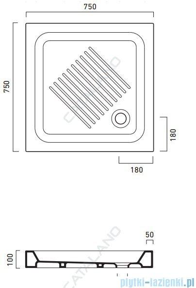Catalano Base 75x75cm brodzik ceramiczny biały 1757500