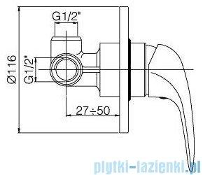 Paffoni Duemila Mieszacz podtynkowy kompletny chrom DU010CR