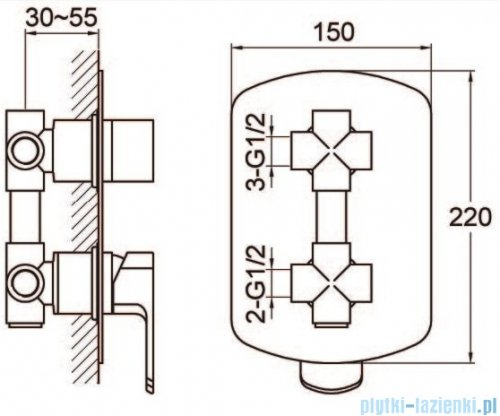 Kohlman Foxal zestaw prysznicowo-wannowy chrom QW211FR25