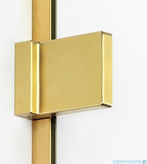 New Trendy Avexa Gold parawan nawannowy z wspornikiem skośnym 90x150 cm przejrzyste EXK-2008