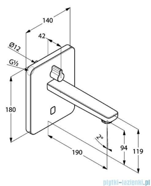 Kludi Zenta ścienna elektroniczna bateria umywalkowa 3850005