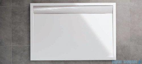SanSwiss WIA Brodzik konglomeratowy prostokątny 90x150cm biały/czarny WIA901500604