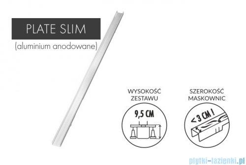 Schedpol Slim Lux odpływ liniowy z maskownicą Plate Slim do zabudowania płytkami 70x3,5x9,5cm OLP70/SLX