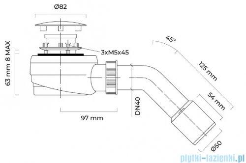 Oltens Pite Turbo syfon brodzikowy odpływ 50 mm 08003000