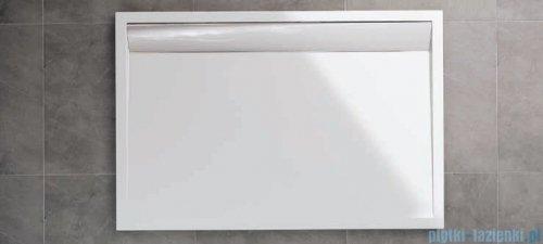 SanSwiss WIA Brodzik konglomeratowy prostokątny 90x100cm czarny/biały WIA9010004154