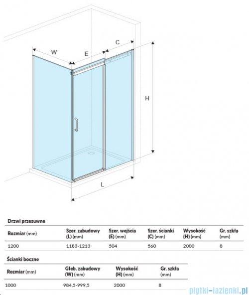 Excellent Rols kabina prostokątna 120x100 cm przejrzysta