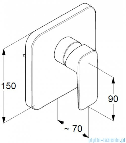 Kludi Pure&Style podtynkowa bateria natryskowa 404200575