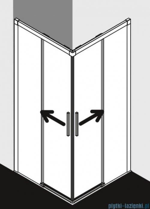 Kermi Nica wejście narożne, jedna połowa, prawa, szkło przezroczyste KermiClean, profil srebro 100cm NIC2R10020VPK