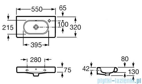 Roca Meridian-N Compacto Umywalka 55x32cm z otworem A32724Y000