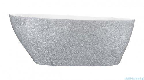 Besco Goya Glam srebrna 160x70cm wanna wolnostojąca + odpływ klik-klak #WMD-160-GS