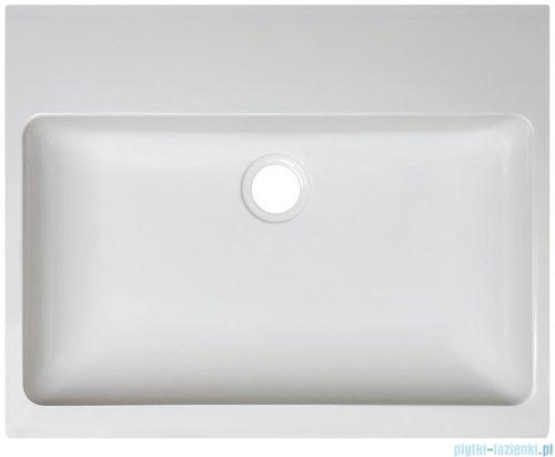Sanplast Free Mineral umywalka prostokątna nablatowa Unb-M/FREE biała 50x40x8 cm 640-280-0100-01-000