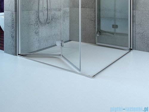 Radaway Euphoria PDD Kabina prysznicowa 80 część lewa szkło przejrzyste z listwą progową