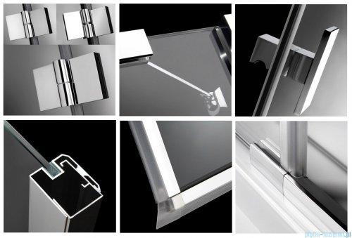 Radaway Kabina prysznicowa Essenza KDJ 80x90 lewa szkło brązowe + brodzik Doros D + syfon 32846-01-08NL
