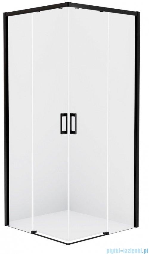 New Trendy Prime Black kabina prostokątna 80x100x200 cm przejrzyste D-0312A/D-0317A