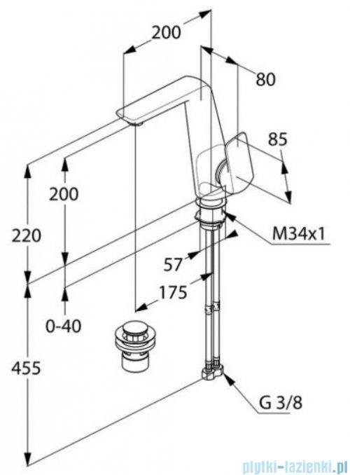 Kludi AMEO jednouchwytowa bateria umywalkowa chrom 410250575
