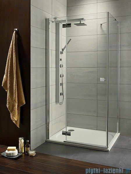 Radaway Kabina prysznicowa Almatea Kdj 80x100 lewa szkło grafitowe + brodzik Doros D + syfon