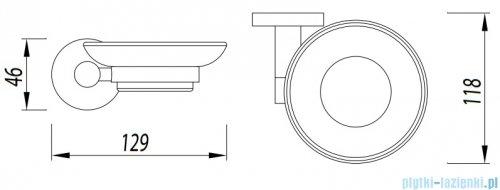 Omnires Modern Project mydelniczka wisząca czarna MP60420BL