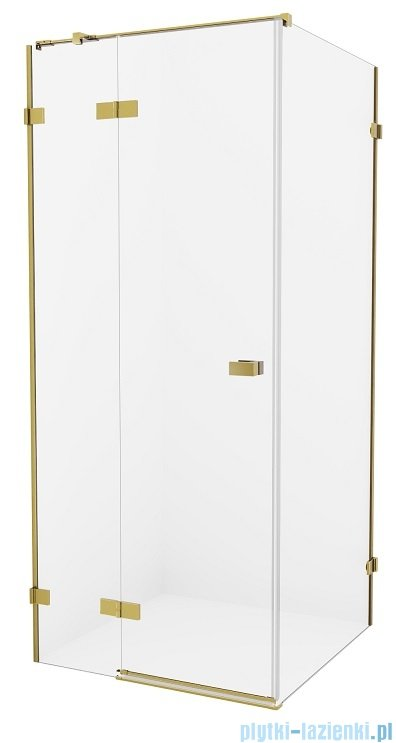 New Trendy Avexa Gold kabina prostokątna 120x90x200 cm przejrzyste lewa EXK-1768