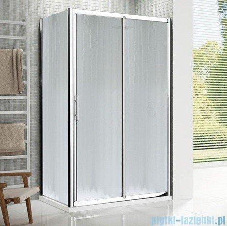 Novellini Drzwi prysznicowe przesuwne LUNES 2P 132 cm szkło przejrzyste profil biały LUNES2P132-1D