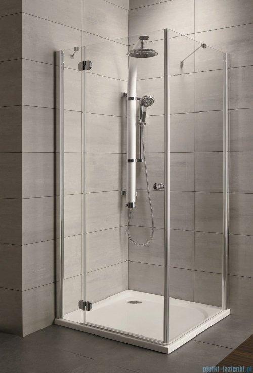 Radaway Torrenta Kdj Kabina prysznicowa 100x100 lewa szkło przejrzyste + brodzik Delos C + syfon