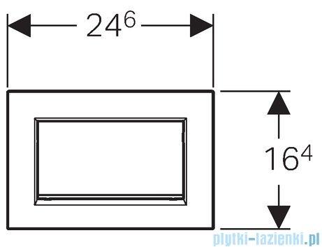 Geberit Sigma30 1M Przycisk uruchamiający przedni chrom /chrom/chrom 115.893.KX.1