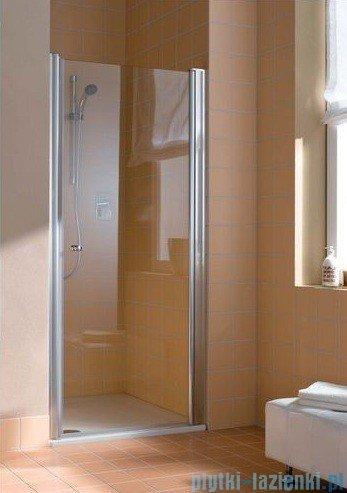 Kermi Atea Drzwi wahadłowe jednoskrzydłowe prawe, szkło przezroczyste, profile srebrne 90cm AT1WR09018VAK
