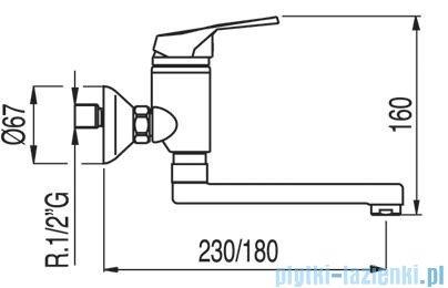 Tres Eco-Tres Bateria zlewozmywakowa ścienna kolor chrom 1.70.418.02