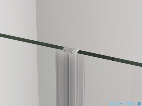 SanSwiss Cadura Black Line drzwi wahadłowe 70cm dwuczęściowe profile czarny matCA2C0700607