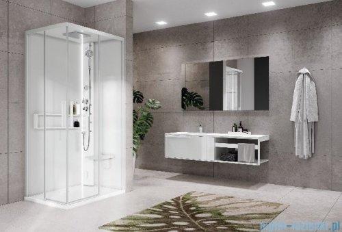 Novellini Glax 2 2.0 kabina masażowo-parowa 90x70 prawa total biała G22A9070DT5-1UU