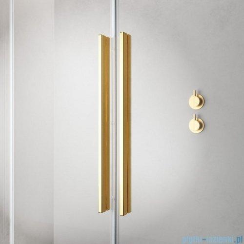 Radaway Furo Gold DWJ drzwi prysznicowe 130cm prawe szkło przejrzyste 10107672-09-01R/10110630-01-01