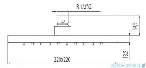 Tres Loft-Tres Głowica natryskowa antical chrom 299.632.06