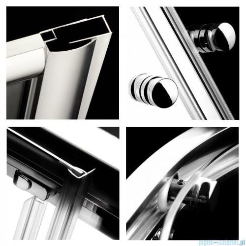 Radaway Classic A Kabina prysznicowa półokrągła z drzwiami przesuwnymi 80x80x170 szkło grafitowe 30011-01-05